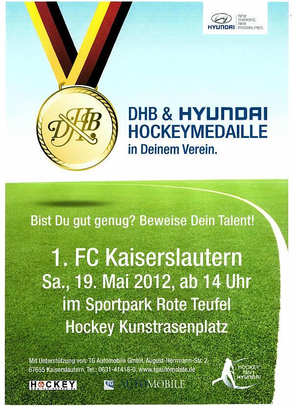 1. FCK Hyundai Hockeymedaille